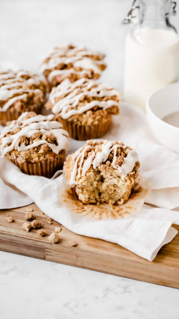 Apple Sour Cream Coffee Cake Muffins with Cinnamon Streusel Topping