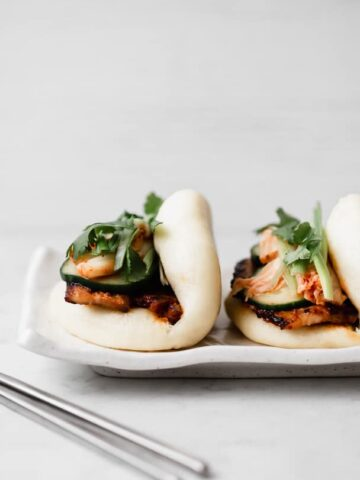Spicy Korean Pork Belly Bao Bun