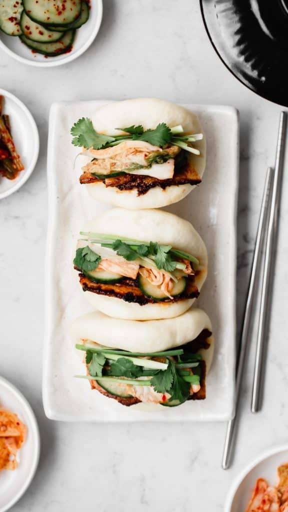 Spicy Korean Pork Belly Bao Bun